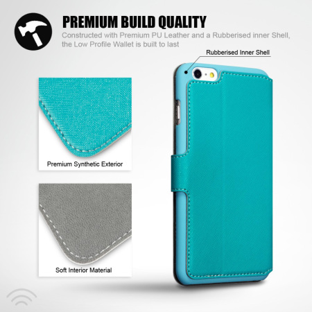Encase Low Profile iPhone 6S Plus / 6 Plus Wallet Stand Case - Blue
