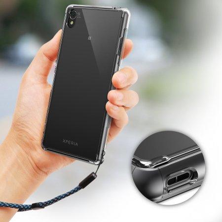 Rearth Ringke Fusion Sony Xperia Z3 Bumper Case - Smoke Black