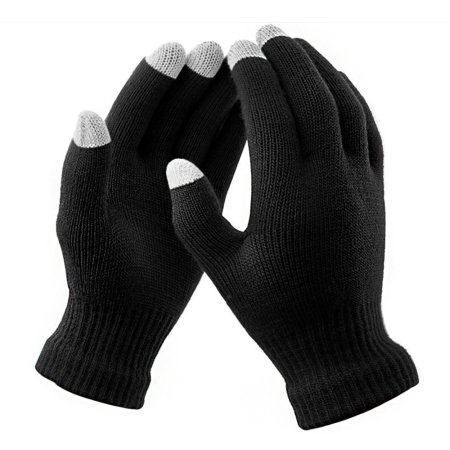 Olixar Smart TouchTip Unisex Touch Screen Gloves - Black