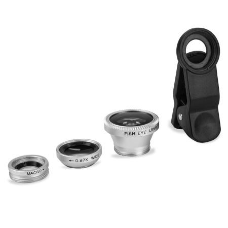 galaxy active olixar 3 in 1 universal clip camera lens kit