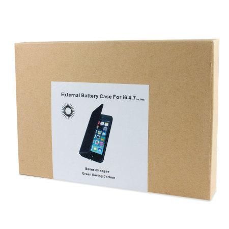 8022bf5aa enCharge Solar iPhone 6S Plus/ 6 Plus Battery Flip Case 4200mAh -Black