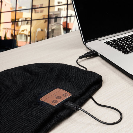 Bluetooth Wireless Woolly Hat -  Black