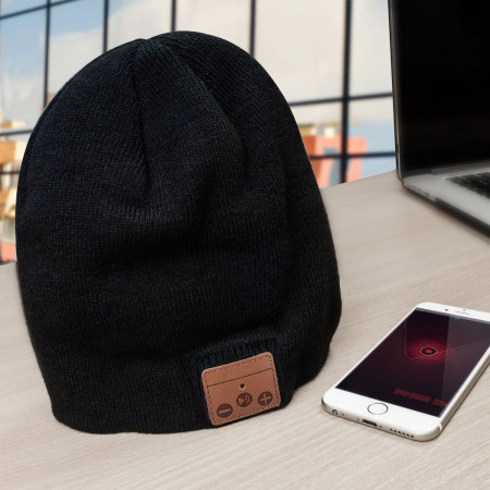 Olixar Bluetooth Wireless Woolly Hat -  Black