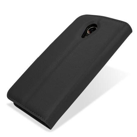 Encase Moto G 2nd Gen Leather-Style Wallet Case - Black