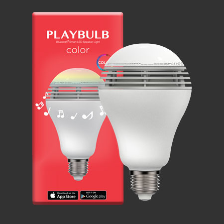 MiPow Playbulb Color Bluetooth Speaker Smart Bulb