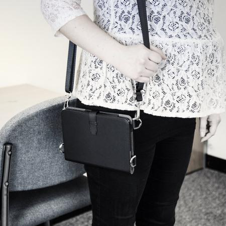 Olixar Premium iPad Mini 3/2/1 Wallet Case & Shoulder Strap - Black