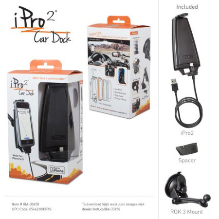 iBOLT iPro2 MFi iPhone X / 8 / 7 / 6 / 5 Series Active Car Holder