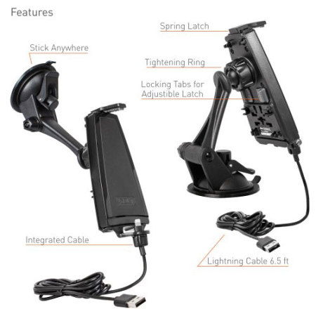 ibolt ipro2 mfi iphone 7 6 5 series active car holder