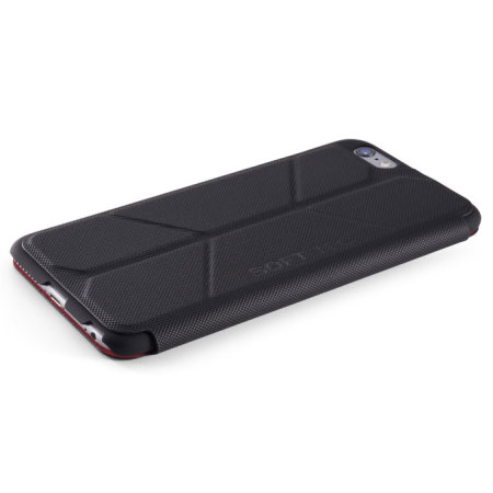 ElementCase Soft-Tec iPhone 6S Plus/6 Plus Wallet Stand Case Black Red