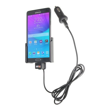 Brodit Galaxy Note 4 Active Holder With Tilt Swivel and Cig-Plug