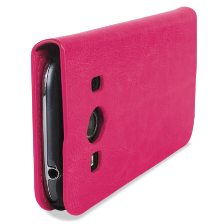 Encase Slim Leather-Style Samsung Galaxy Ace 4 Wallet Case - Pink