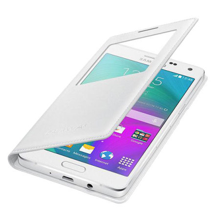 Official Samsung Galaxy A5 2015 S View Cover Case - White