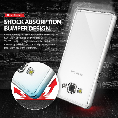 Rearth Ringke Fusion Samsung Galaxy A3 2015 Case - Smoke Black
