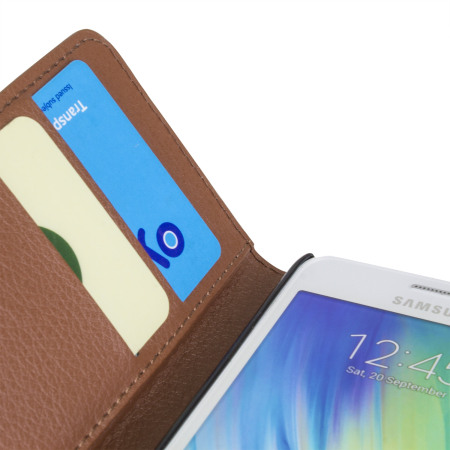 Encase Leather-Style Samsung Galaxy A3 2015 Wallet Case - Brown