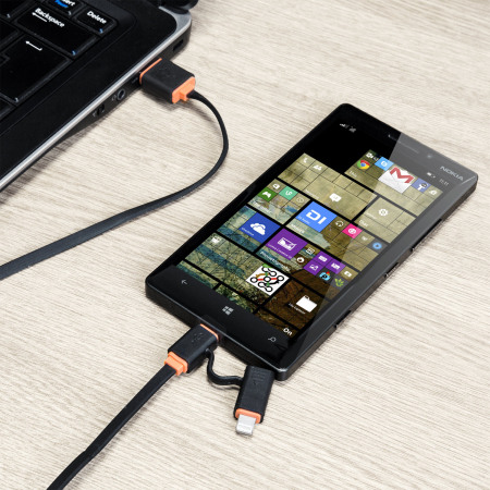 Olixar Non-Tangle Micro USB / Lightning Charge & Sync Cable