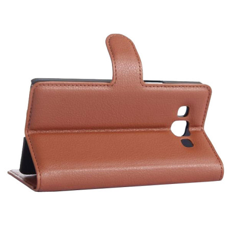 Encase Leather-Style Samsung Galaxy A5 2015 Wallet Case - Brown