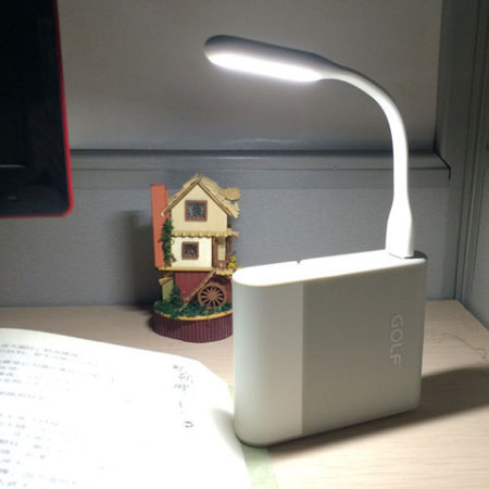 Mini Lampe LED USB enCharge - Blanche