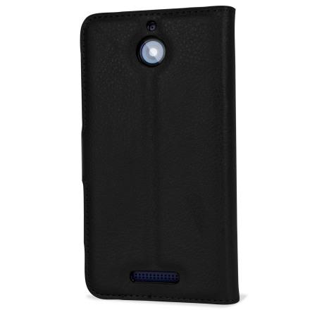 olixar leather style htc desire 510 wallet case black