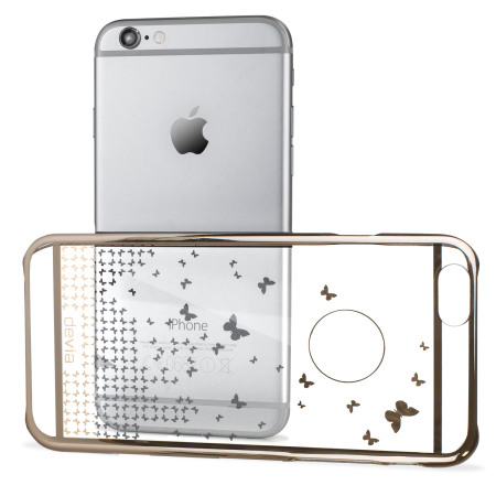 Butterfly iPhone 6S / 6 Shell Case - Champagne Gold / Clear