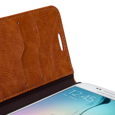 Olixar Samsung Galaxy S6 Wallet Case - Brown