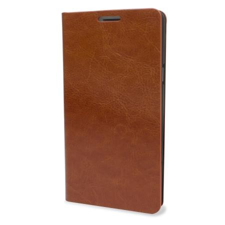 Encase Leather-Style Samsung Galaxy A7 2015 Wallet suojakotelo -Ruskea