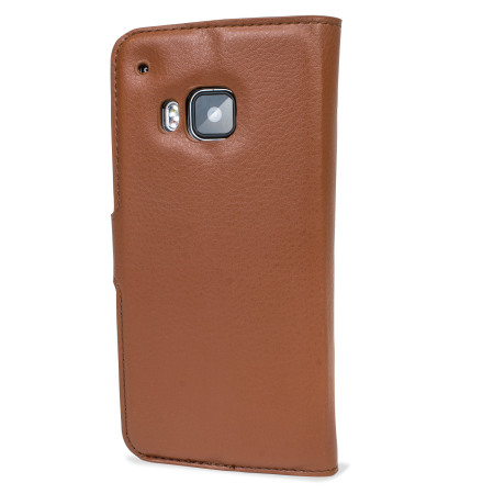 Olixar Leather-Style HTC One M9 Wallet Case - Brown