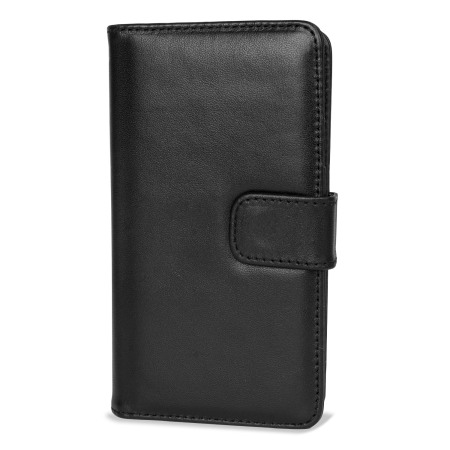 Olixar Nokia Lumia 535 Genuine Leather Wallet Case - Black
