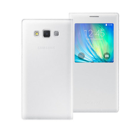 low priced b5fa6 9361c Official Samsung Galaxy A7 2015 S View Flip Cover - White