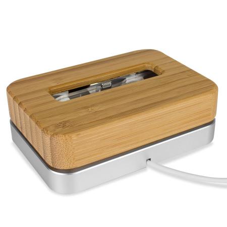 Samdi Luxury iPhone 7/6s/6/SE Bamboo & Aluminium Holder/Charging Dock