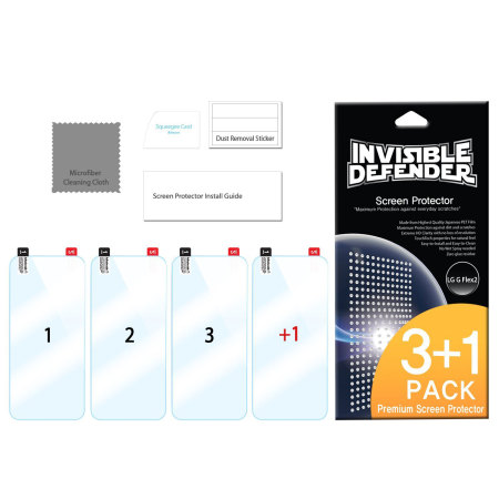Rearth Invisible Defender LG G Flex 2 Screen Protector 4 Pack