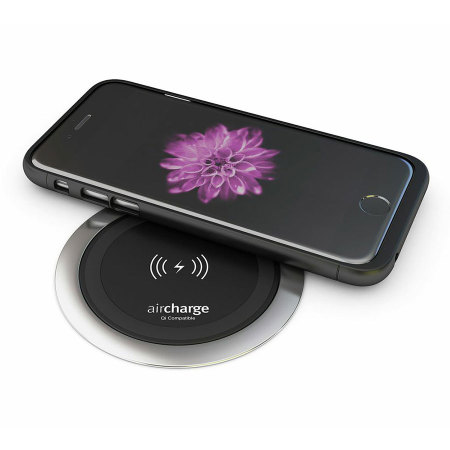 aircharge qi iphone 6 wireless charging case black reviews comments. Black Bedroom Furniture Sets. Home Design Ideas