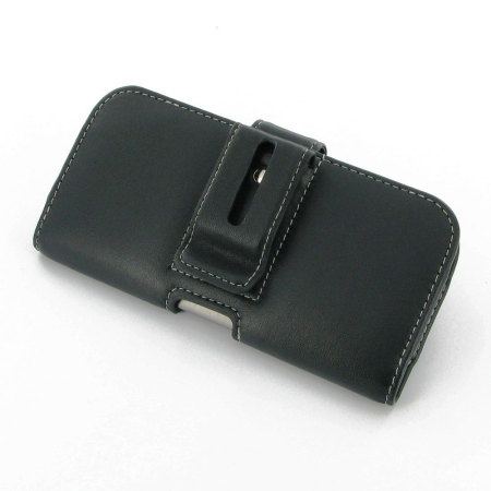 are pdair horizontal leather htc one m8 pouch case black right