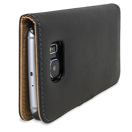 Olixar Leather-Style Samsung Galaxy S6 Wallet Case - Black / Tan