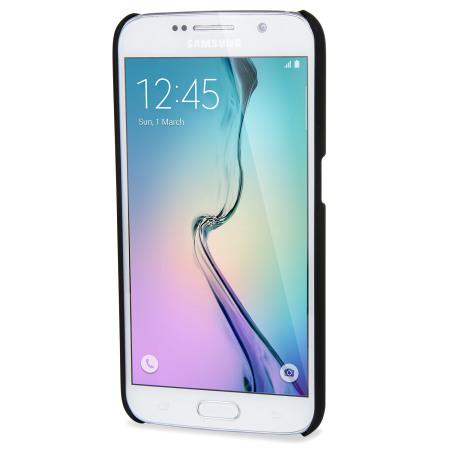 Rubberised Samsung Galaxy S6 Hard Shell Case - Black