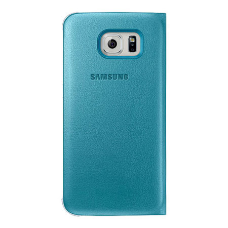 Funda Samsung Galaxy S6 S-View Premium Oficial - Azul