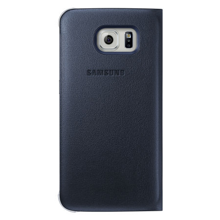 low priced 72f25 bf901 Official Samsung Galaxy S6 Flip Wallet Cover - Blue / Black