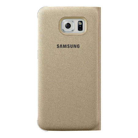 service official samsung galaxy s6 s view fabric premium cover case silver want