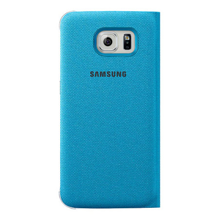 official samsung galaxy s6 s view premium cover case blue