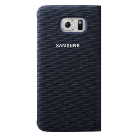 Official Samsung Galaxy S6 Flip Wallet Fabric Cover - Black