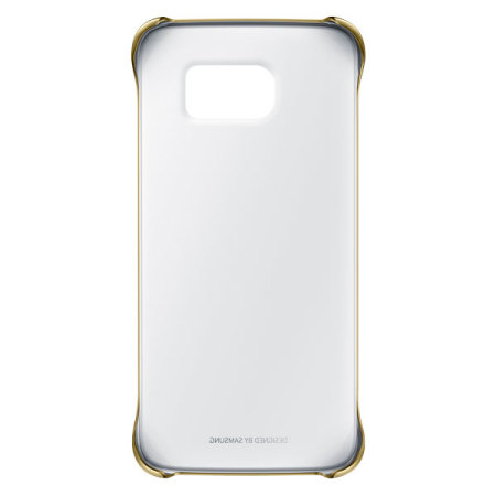 Official Samsung Galaxy S6 Edge Clear Cover Case - Gold