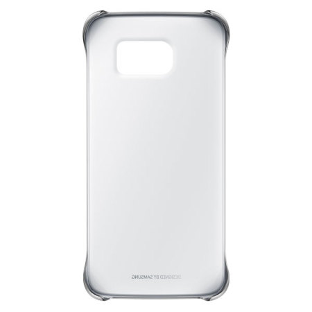 Official Samsung Galaxy S6 Edge Clear Cover Case - Silver