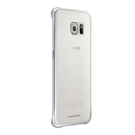 official samsung galaxy s6 edge clear cover case silver morefelt