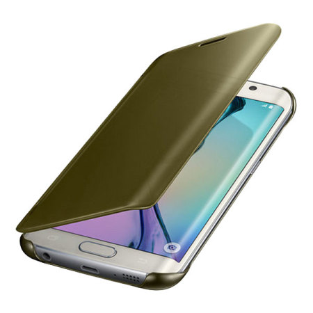 Official samsung galaxy s6 clear view cover case gold