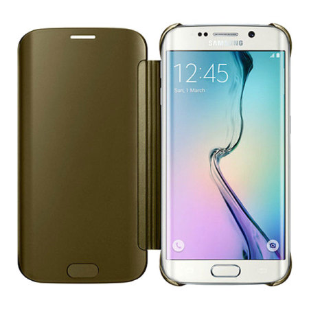 official samsung galaxy s6 clear cover case gold