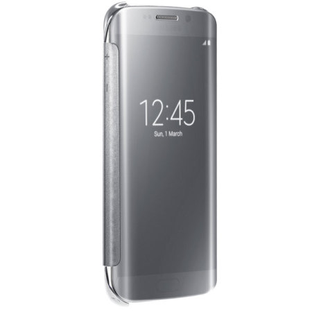 android the time official samsung galaxy s6 edge clear cover case silver