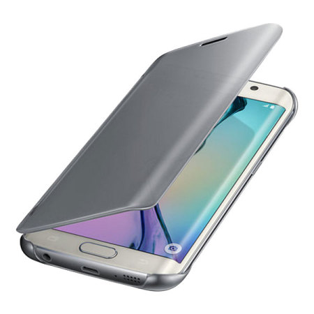 official samsung galaxy s6 edge clear cover case silver