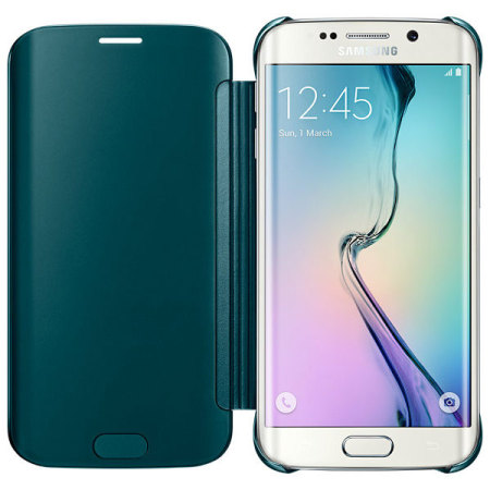 official samsung galaxy s6 edge clear cover case green