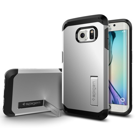 Spigen Tough Armor Samsung Galaxy S6 Edge Case - Satin Silver