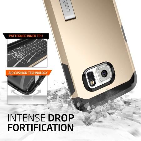 Spigen Tough Armor Samsung Galaxy S6 Edge Case - Champagne Gold