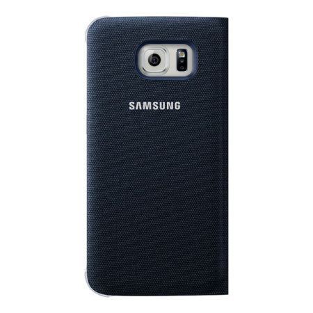 owns official samsung galaxy s6 flip wallet cover blue called